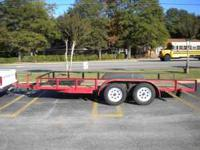 16ft dual axle car hauler trailer. In excellent