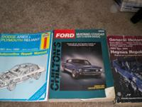 3 Manuals just like the ones sold at Auto Part stores.