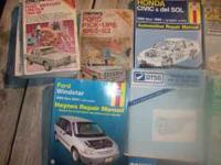 These Chilton manuals are for cars I used to own. THESE