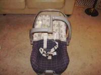Teddy bear car seat with base. In great condition.