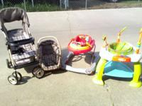 "Carseat-Stroller $80.00 ""Cars"" Walker $40.00 Bouncer"