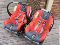 2 Chicco carrier car seats. Light, easy to install,