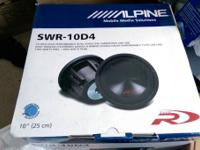 For sale: still in box and new  Alpine SWR-10D4