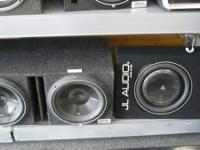 We have many subwoofer setups in boxes! Brand names