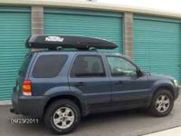 GREAT HARD SIDED FIBER GLASS CAR TOP CARRIER. $200 OR