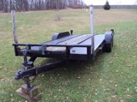 FOR SALE IS MY 18 FOOT BED OPEN CAR TRAILER,,,,she