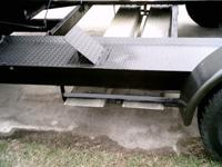 1982 car trailer rear axles have brakes storage box in