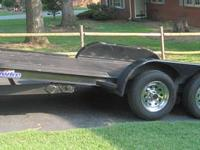 2009 Hawke Car Transport Trailer. 19 feet long, 84 in