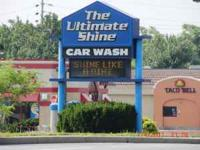 This car wash is located near the busiest intersection