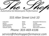 The shop automotive and motorcycle performance Offering