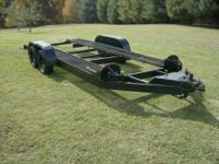 This is a solid steel auto trailer / car hauler. It's