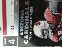 . Occasion Type: Sports Cardinals 49ers tickets, front