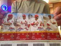 4 St. Louis cardinals tickets for Wednesday September