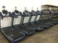 Summit Spin Bike neon green $350 Precor 966i Treadmill