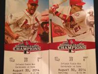 Cards vs Cubs tickets for sale! Saturday August 30th in
