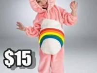 FOR SALE...Care Bear Cheer Pink Costume Size 2T-3T WORE