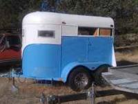 This is a two horse trailer that was converted into a