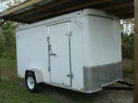 6'X12' ENCLOSED , EXTRA TALL , SINGLE AXLE , RAMP REAR