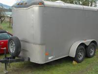 2004 Haulmark freight trailer, drop down rear door,
