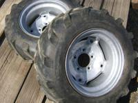 Pair of Carlisles 23x850x12 AG Lugs, good 9/16ths of