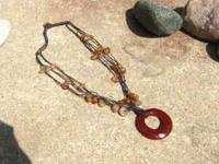 This is about a 20inch necklace with a large oval