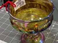 Carnival Glass Candy Dish. Excellent condition, no