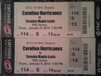 I have two tickets available for the Carolina