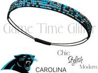 FREE SHIPPINGTeam Color Rhinestone Headband in Carolina