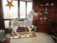 Gorgeous carousel steed in outstanding condition. Sells