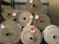 HUGE SELECTION OF CARPET REMNANTS. HUNDREDS OF ROLLS TO