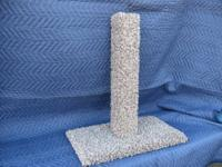 Carpeted Cat Scratch Post: Model #1305. This carpeted