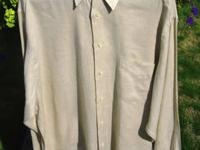 This new, never worn Carroll & Company tan linen dress