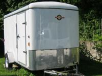 2009 Carry On Cargo Trailer 6x12 white 15 miles single