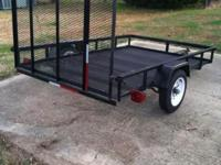 5-ft x 8-ft Wire Mesh Utility Trailer with Gate