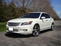 This 2008 Honda Accord 4dr EX-L V6 Sedan includes a 3.5