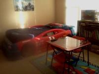 I am selling a Step 2 Cars Bed, Disney Cars table,