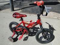 Cars Lightning Mcqueen Kids Bike Bicycle with Training
