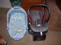 combi infant carseat 40.00 Fisher Price Bouncer,