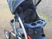 Graco Blue and Green matching Carseat/Stroller/Car Seat
