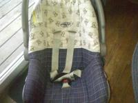 First ONE IS AN EVENFLO INFANT CAR SEAT. BLUE PLAID