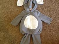 Carter's Elephant costume for babies, size 12 months.