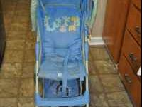 Carters Child Stroller. Light blue with light green