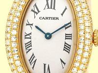 ivory dial with black roman numerals, full pave diamond