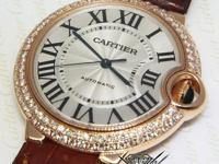 Cartier Ballon Bleu 18k Rose Gold Diamond 36mm