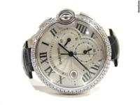 Offered for sale is an Cartier ballon bleu chronograph
