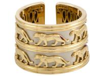 This remarkable vintage panther bracelet by Cartier is