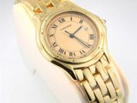 Genuine pre-owned Cartier Cougar watch in solid 18K