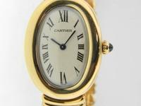 Genuine pre-owned Cartier Ladies Baignoire solid 18K