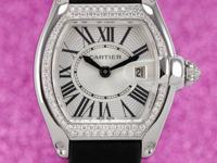 Features Date Case Details 37mm x 31mm 18K White Gold