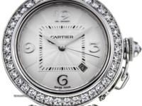 This is a Cartier, Pasha 18k Gold Automatic Silver Dial